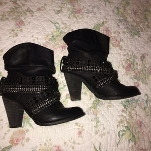 Bling Slouch Boots sz.9